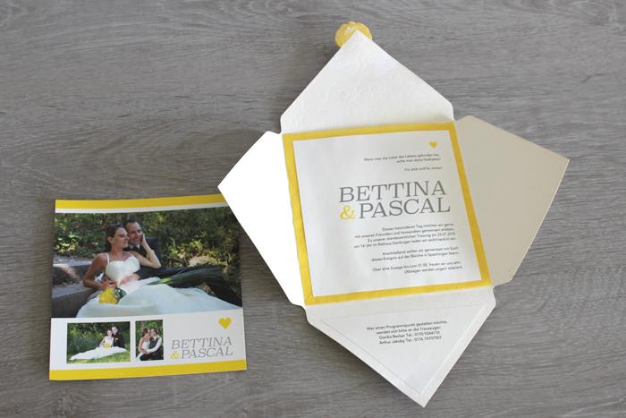 Hochzeitseinladung Design Betti und Pascal